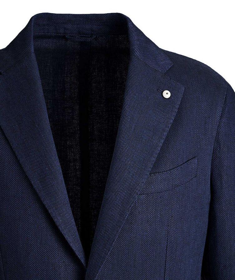 Herringbone Linen-Cotton Sports Jacket image 1