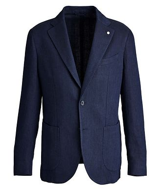 L.B.M. 1911 Herringbone Linen-Cotton Sports Jacket