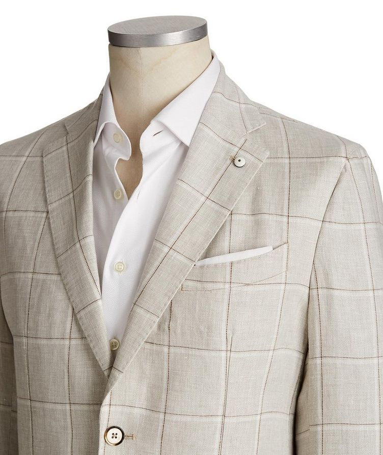 Windowpane Linen Sports Jacket image 1