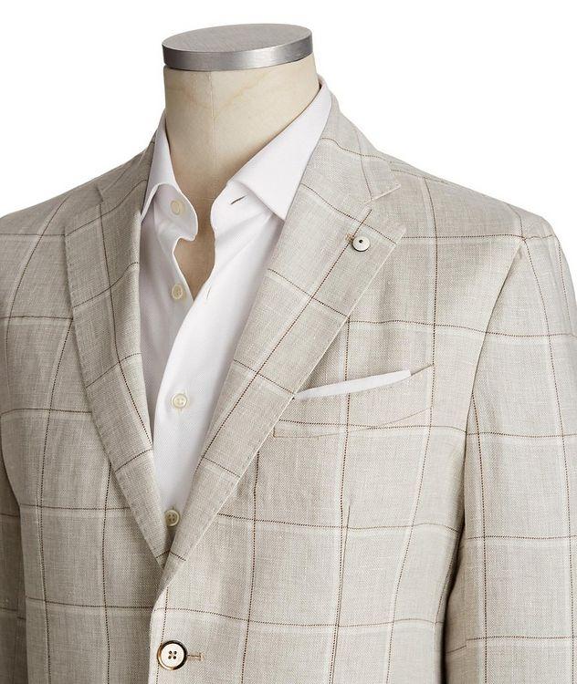 Windowpane Linen Sports Jacket picture 2