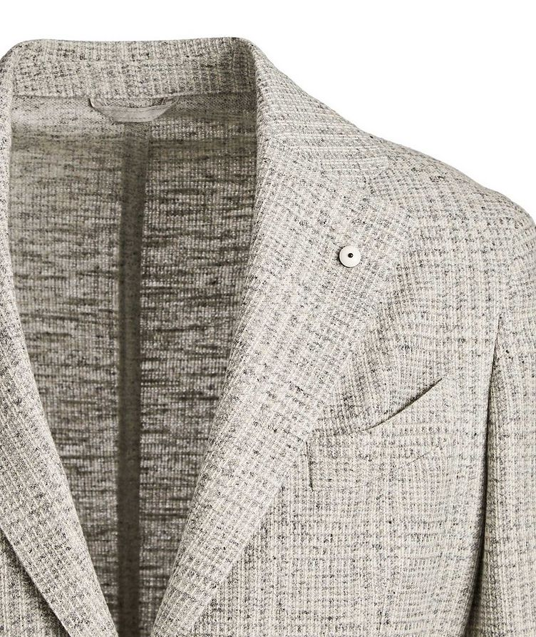 Checked Cotton-Linen Sports Jacket image 1