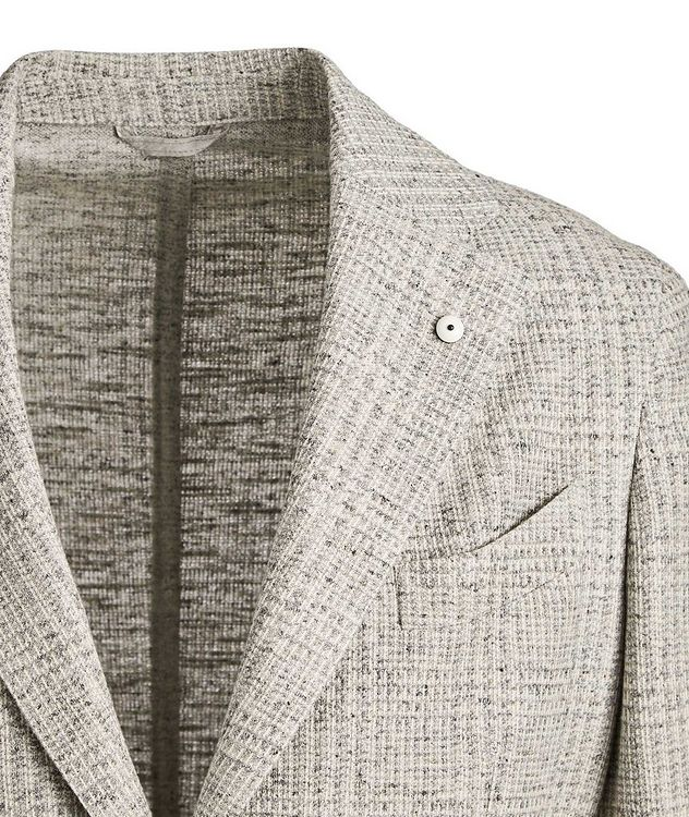 Checked Cotton-Linen Sports Jacket picture 2