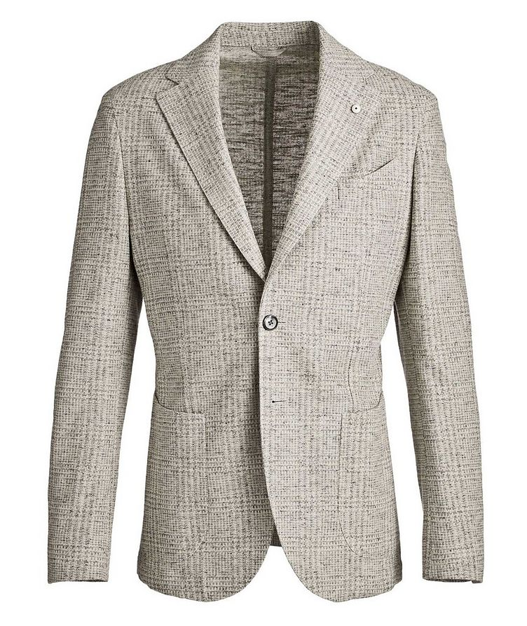 Checked Cotton-Linen Sports Jacket image 0