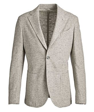 L.B.M. 1911 Checked Cotton-Linen Sports Jacket