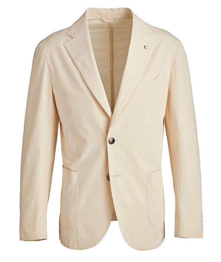 Seersucker Stretch-Cotton Sports Jacket image 0
