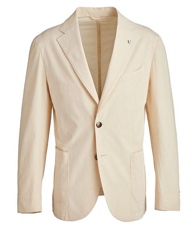 Seersucker Stretch-Cotton Sports Jacket picture 1