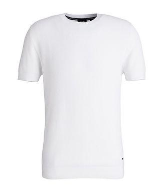 Joop! Honeycomb-Knit Cotton-Blend T-Shirt