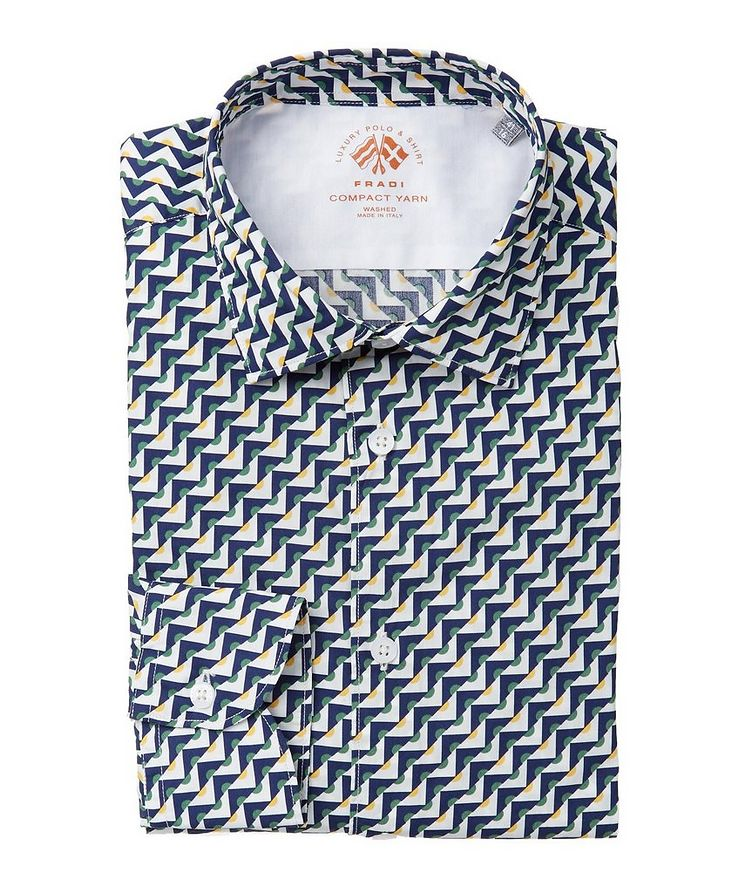 Geometric-Printed Cotton Shirt image 0