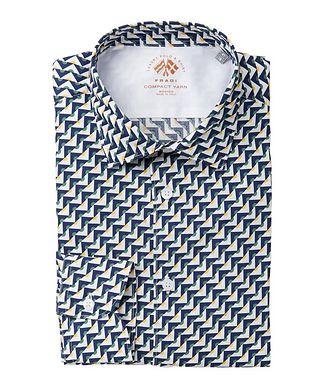 Fradi Chemise en coton à motif géométrique
