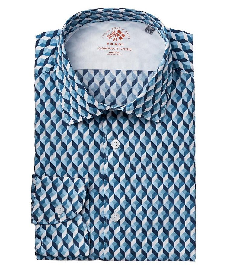 3D Checked Cotton Shirt image 0