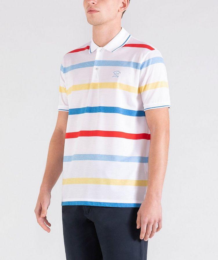 Striped Cotton Piqué Polo image 1
