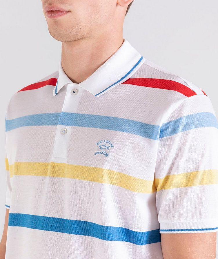 Striped Cotton Piqué Polo image 3