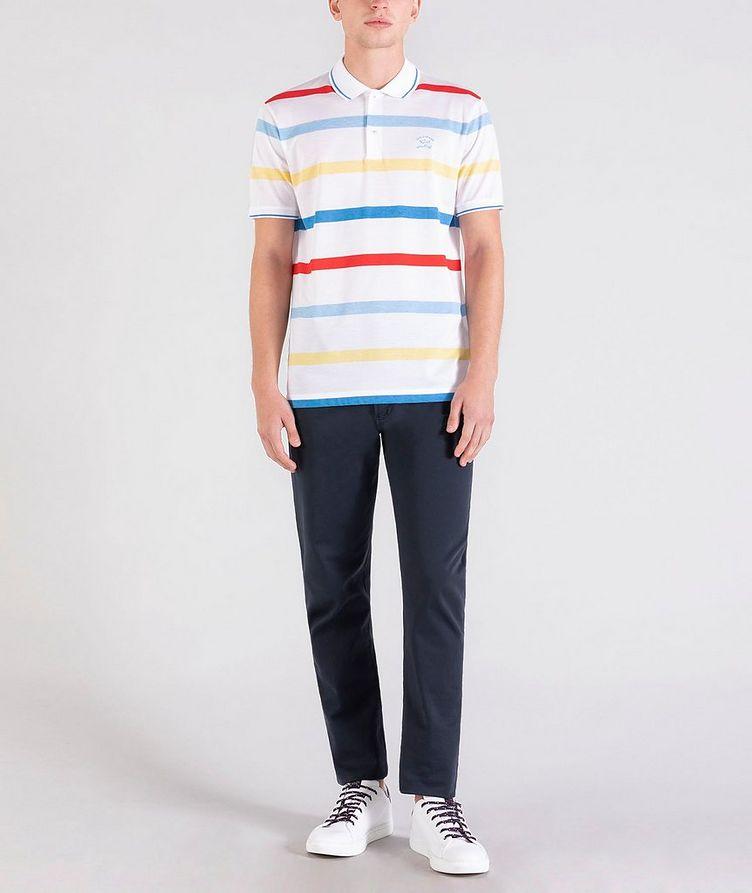 Striped Cotton Piqué Polo image 4