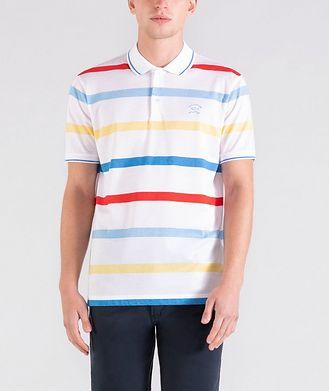 Paul & Shark Striped Cotton Piqué Polo