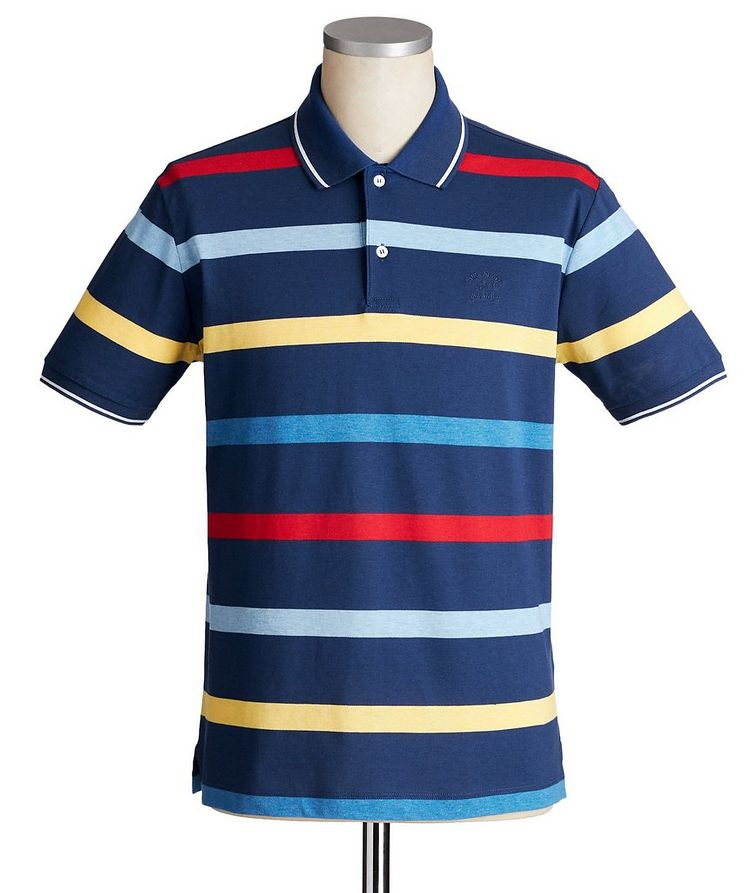 Striped Cotton Piqué Polo image 0