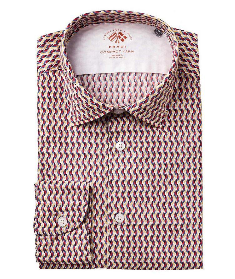 Abstract-Printed Cotton Shirt image 0