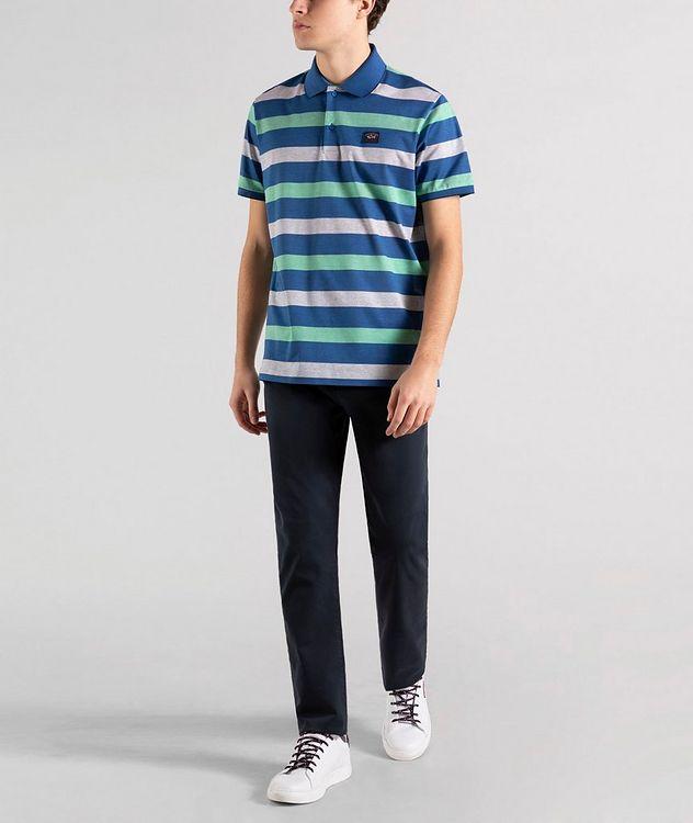 Striped Cotton Piqué Polo picture 5
