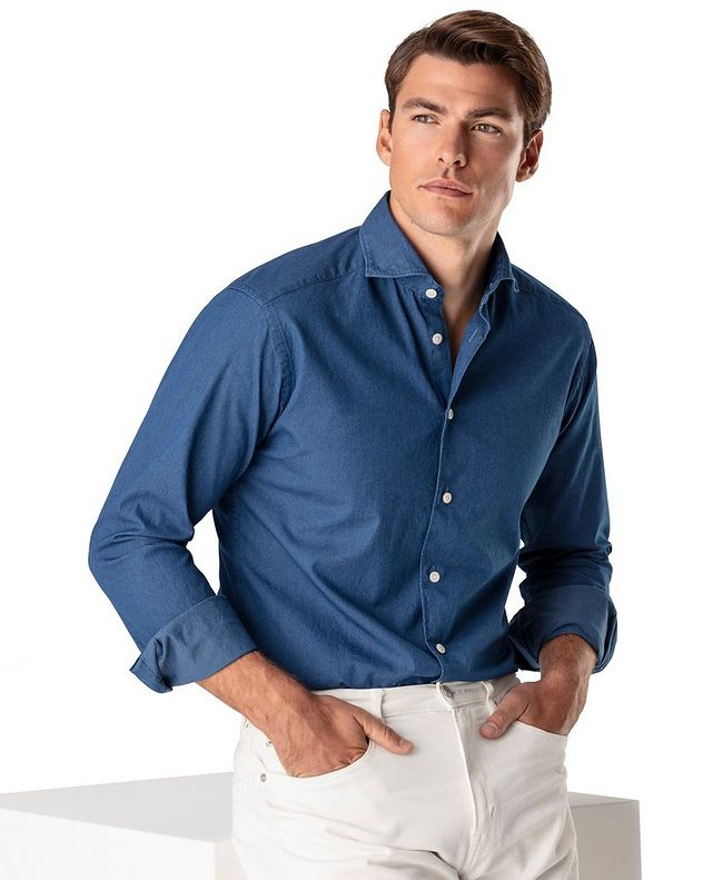 Soft Slim Fit Chambray Shirt picture 2