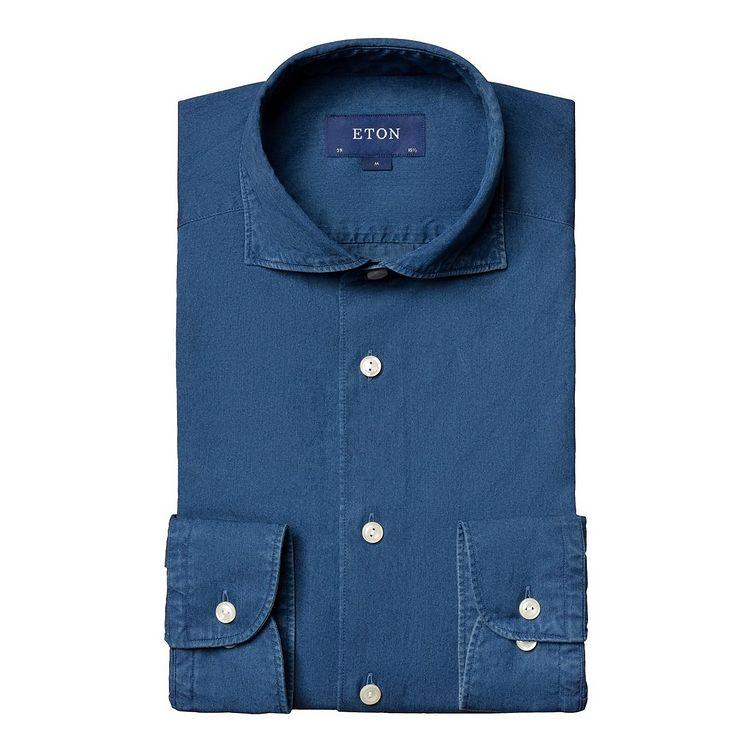 Soft Slim Fit Chambray Shirt image 0