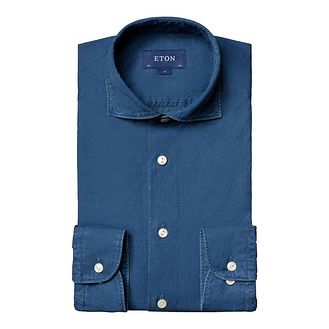 Eton Soft Contemporary Fit Chambray Shirt