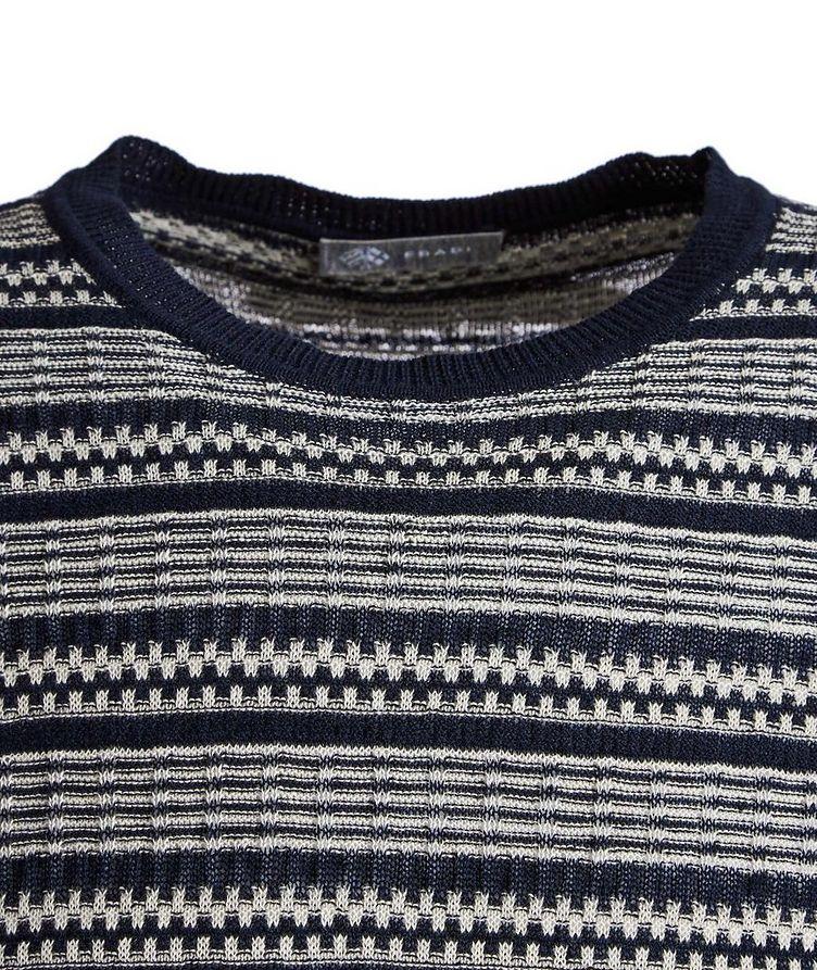 Striped Linen-Cotton T-Shirt image 1