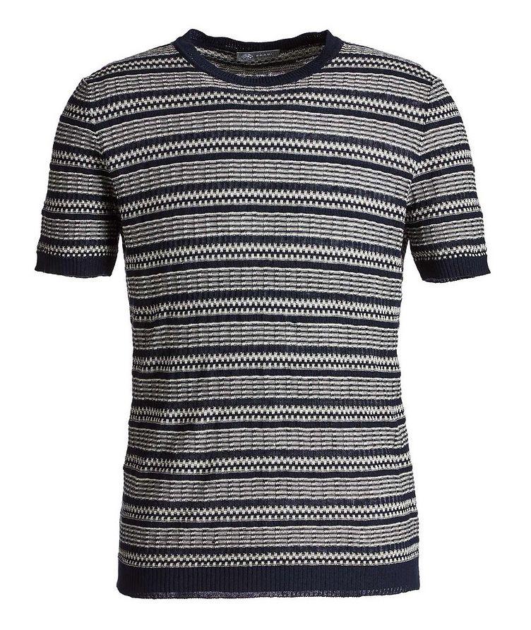 Striped Linen-Cotton T-Shirt image 0