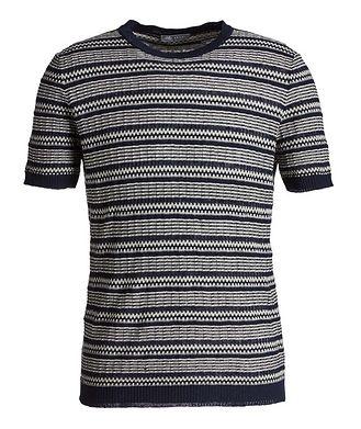 Fradi Striped Linen-Cotton T-Shirt