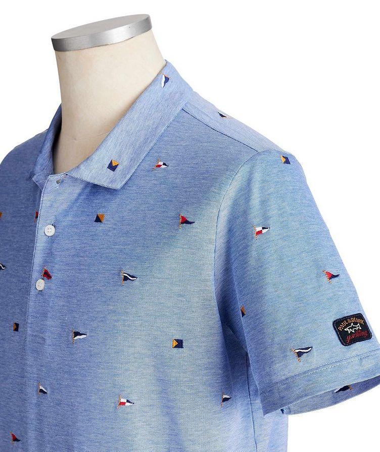 Embroidered Cotton Piqué Polo image 1