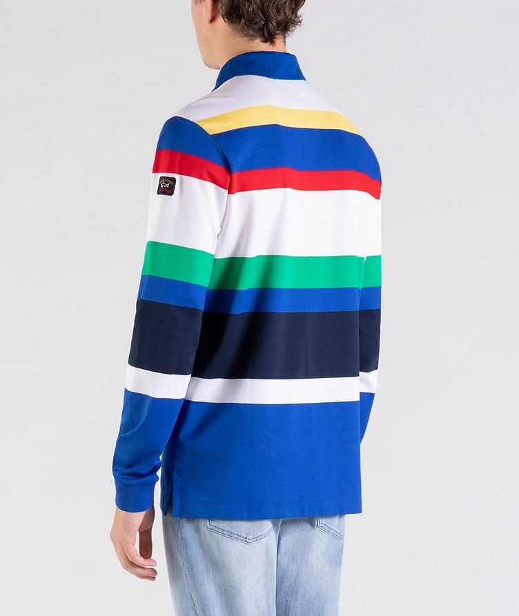 Long-Sleeve Striped Rugby Polo image 2