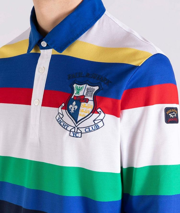 Long-Sleeve Striped Rugby Polo image 3