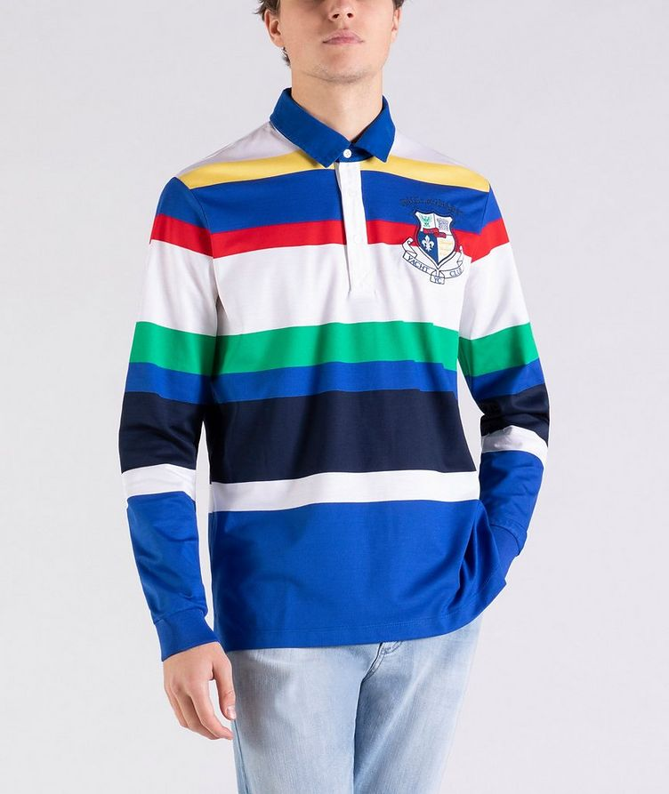 Long-Sleeve Striped Rugby Polo image 0