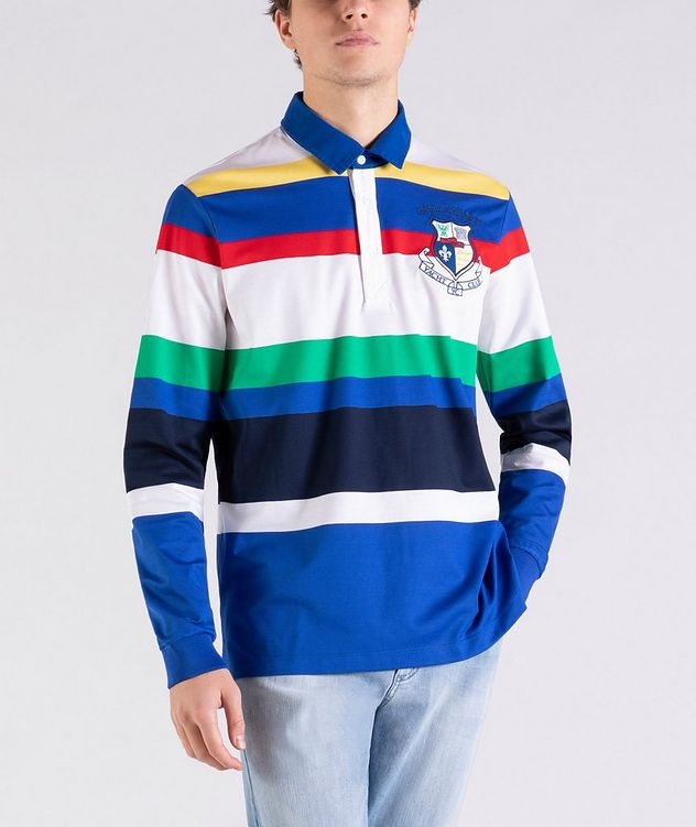 Long-Sleeve Striped Rugby Polo picture 1