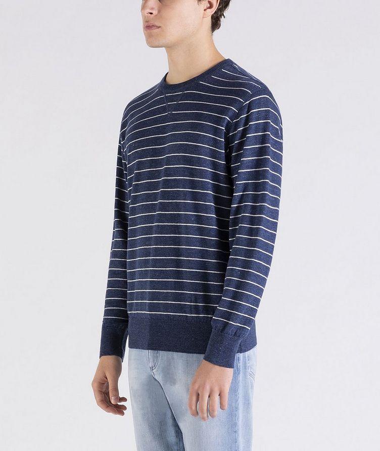 Striped Linen-Cotton Sweater image 1