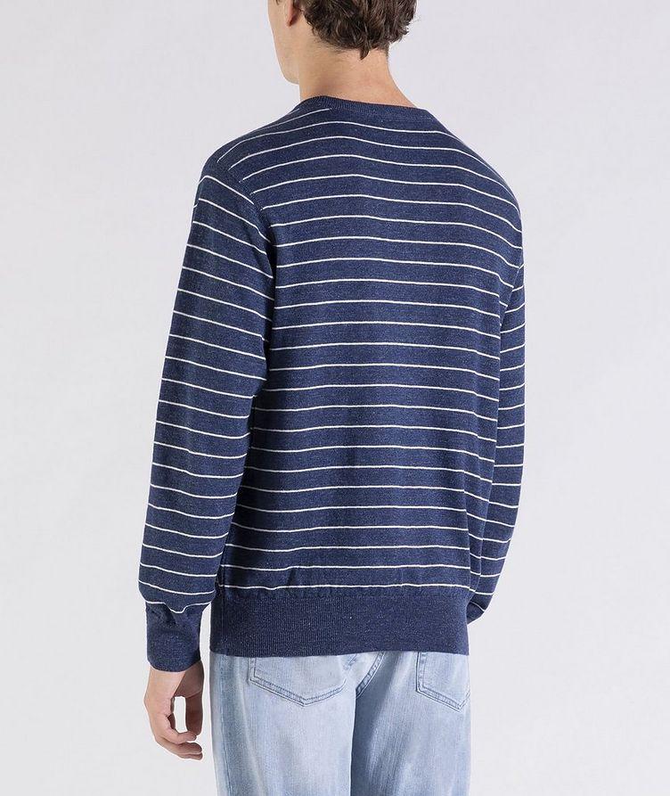 Striped Linen-Cotton Sweater image 2