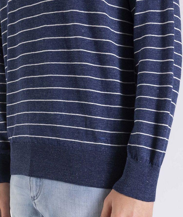Striped Linen-Cotton Sweater image 3
