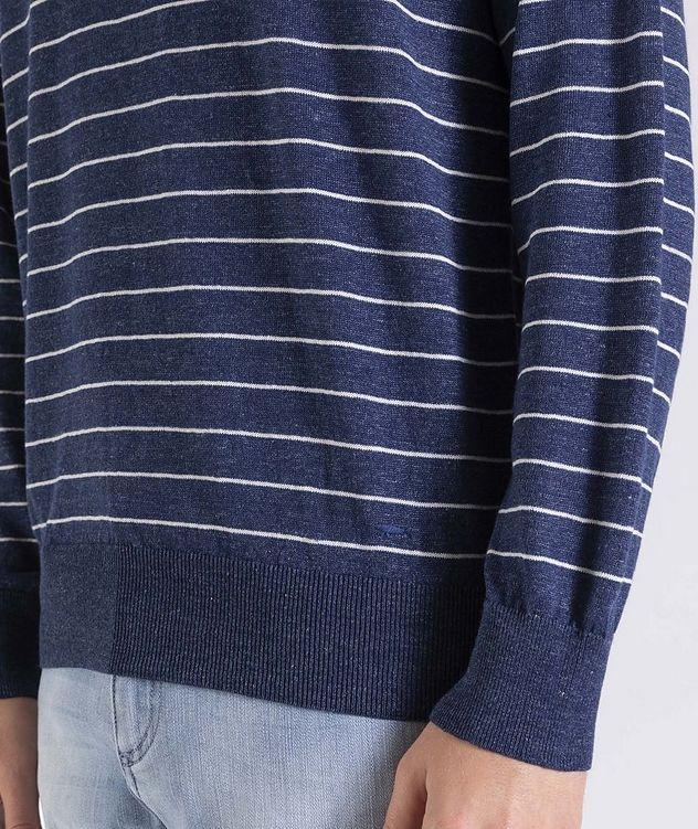 Striped Linen-Cotton Sweater picture 4