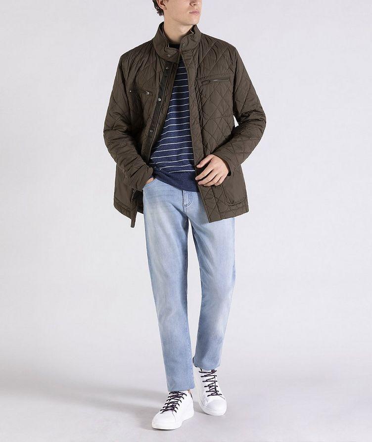 Striped Linen-Cotton Sweater image 4