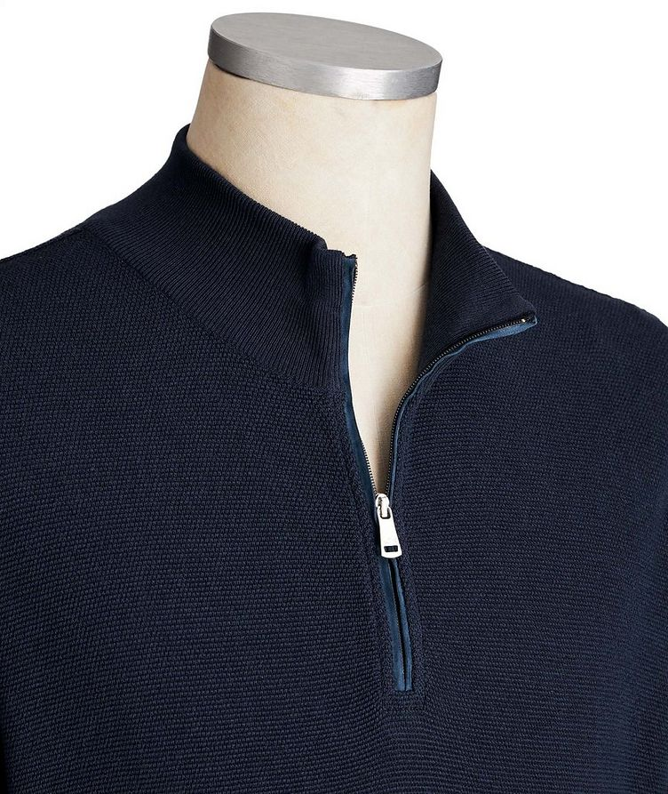 Half-Zip Cotton-Silk Sweater image 1