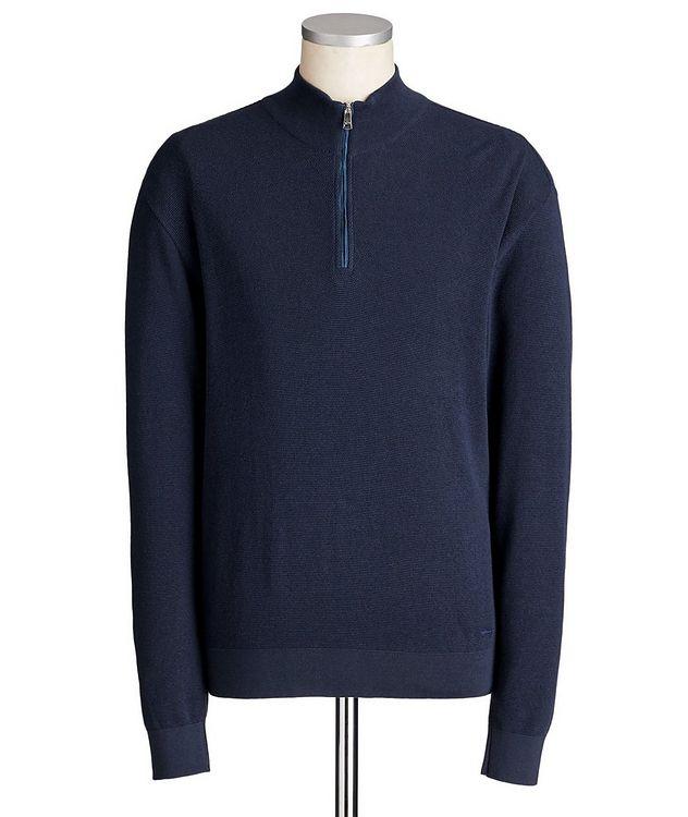 Half-Zip Cotton-Silk Sweater picture 1