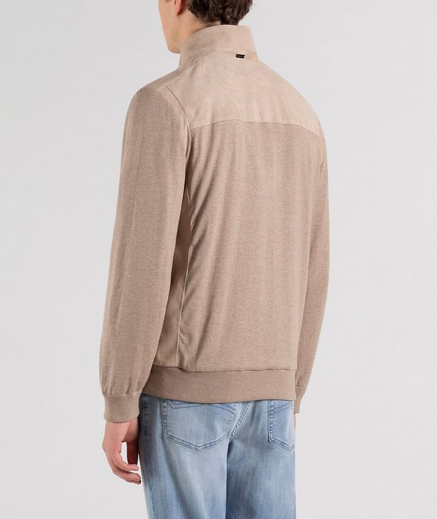 Zip-Up Silk-Cotton Sweater picture 2
