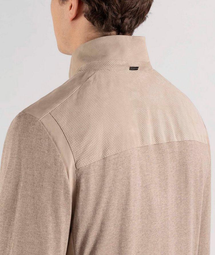 Pull en soie et coton à glissière image 3