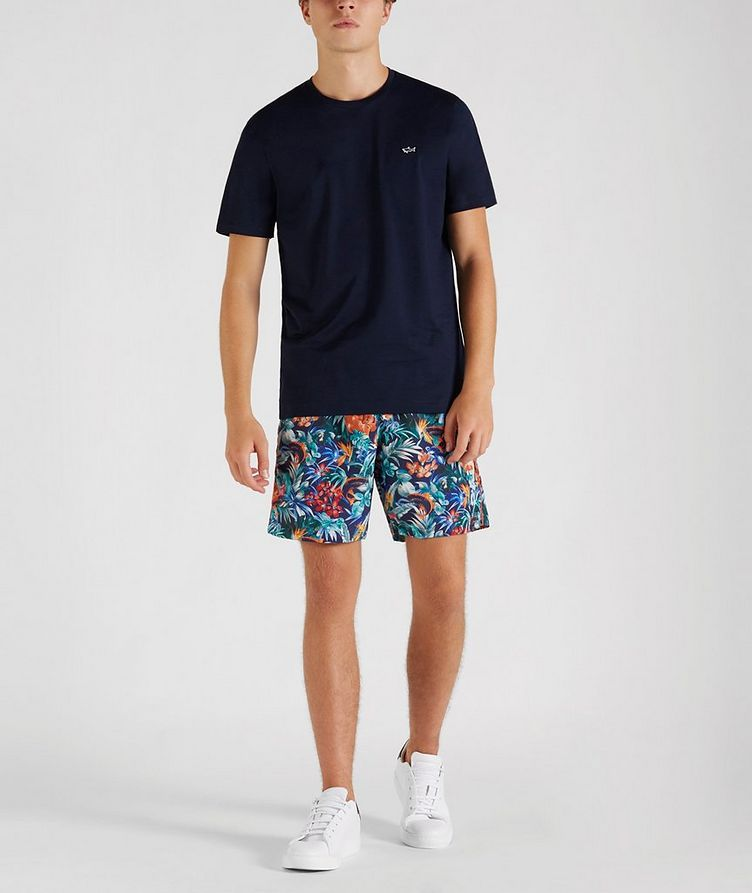 Printed Swim Trunks image 4