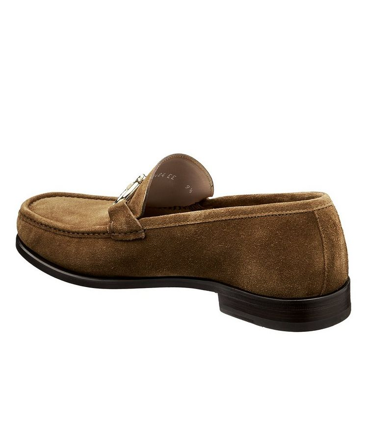 Reversible Buckle Suede Loafers image 1