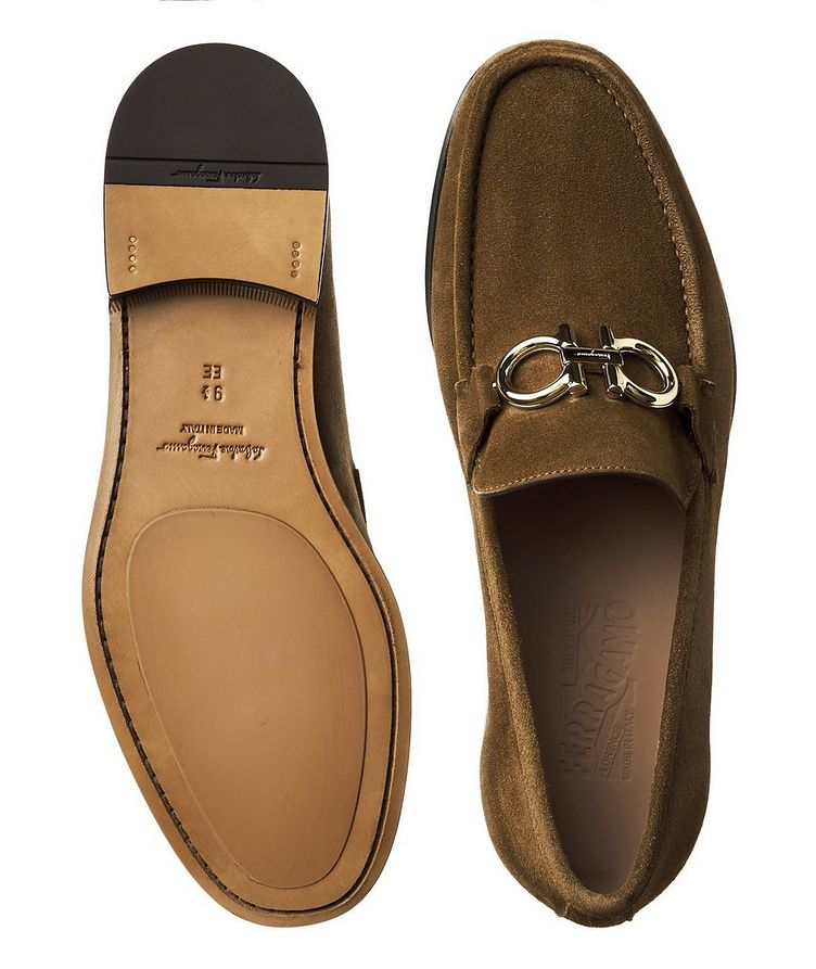 Reversible Buckle Suede Loafers image 2
