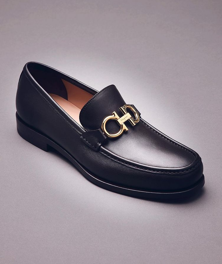 Reversible Buckle Suede Loafers image 4