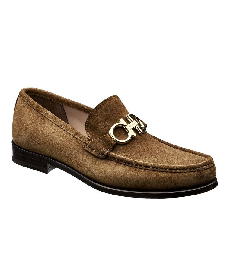 Reversible Buckle Suede Loafers image 0