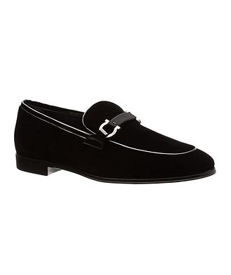 Salvatore Ferragamo Velvet Loafers