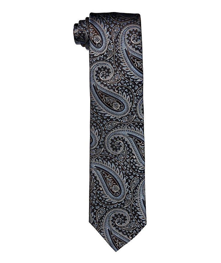 Paisley-Printed Silk Tie image 0