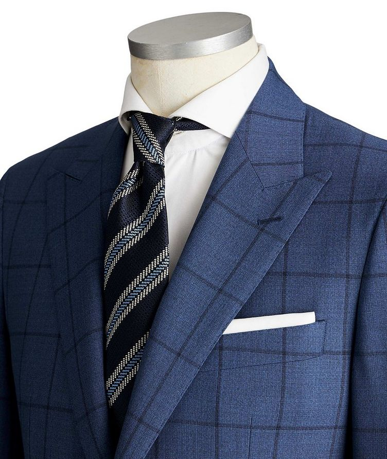 Slim Fit Windowpane-Checked Suit image 1
