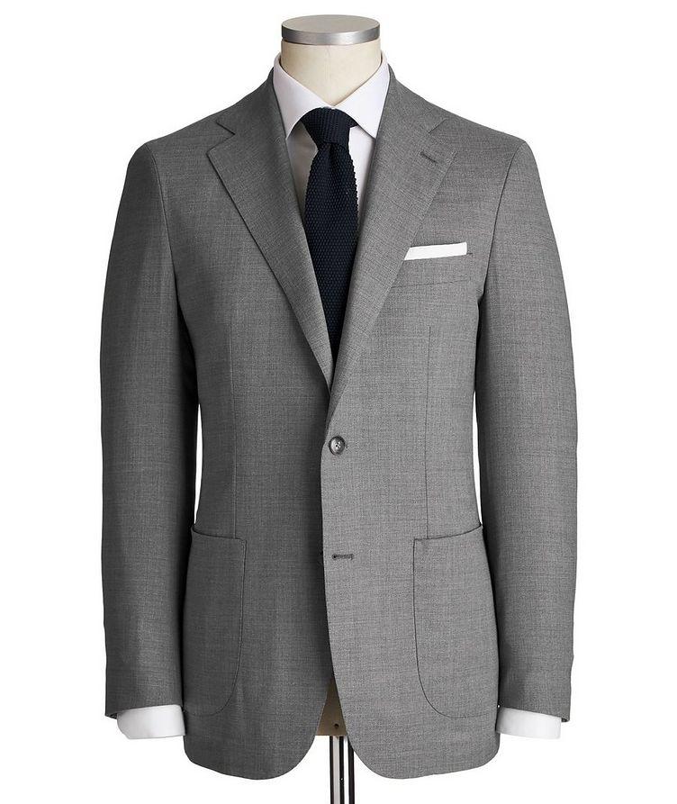 Slim Fit Wool-Silk Suit image 0